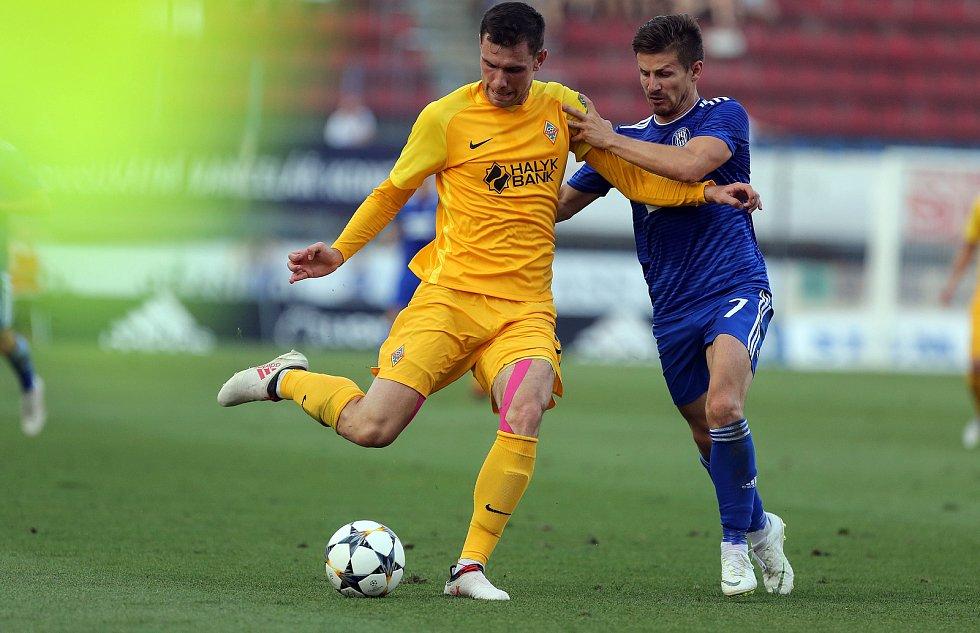 euro pohár SK Sigma - FC Kairat Almaty. Václav Pilař
