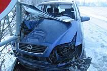 Nehoda opilého řidiče opelu u Bílé Lhoty