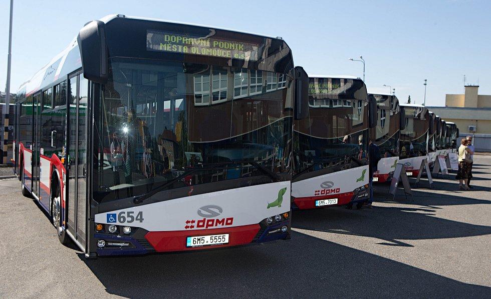 Autobusy olomouckého dopravního podniku.