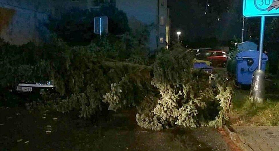 Následky bouřky v Olomouckém kraji, 28.7.2020