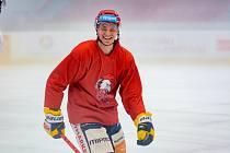 Olomoučtí hokejisté před novou sezonou absolvovali první trénink na ledové ploše.  Jakub Galvas