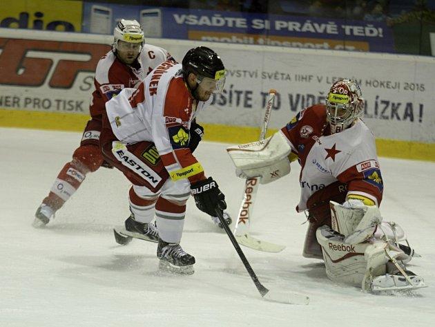 Tomáš Rachůnek dává gól