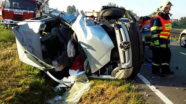 Nehoda mezi Samotiškami a Droždínem, 21. 8. 2020