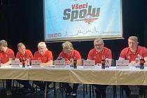 Tisková konference HC Olomouc před startem nového ročníku extraligy.