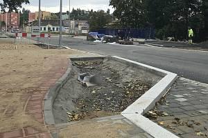 Rekonstrukce Věžní ulice ve Šternberku, září 2020
