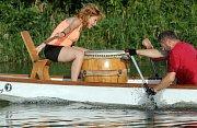 Olomoucký drak: páteční trénink dračích lodí na řece Moravě v Olomouci