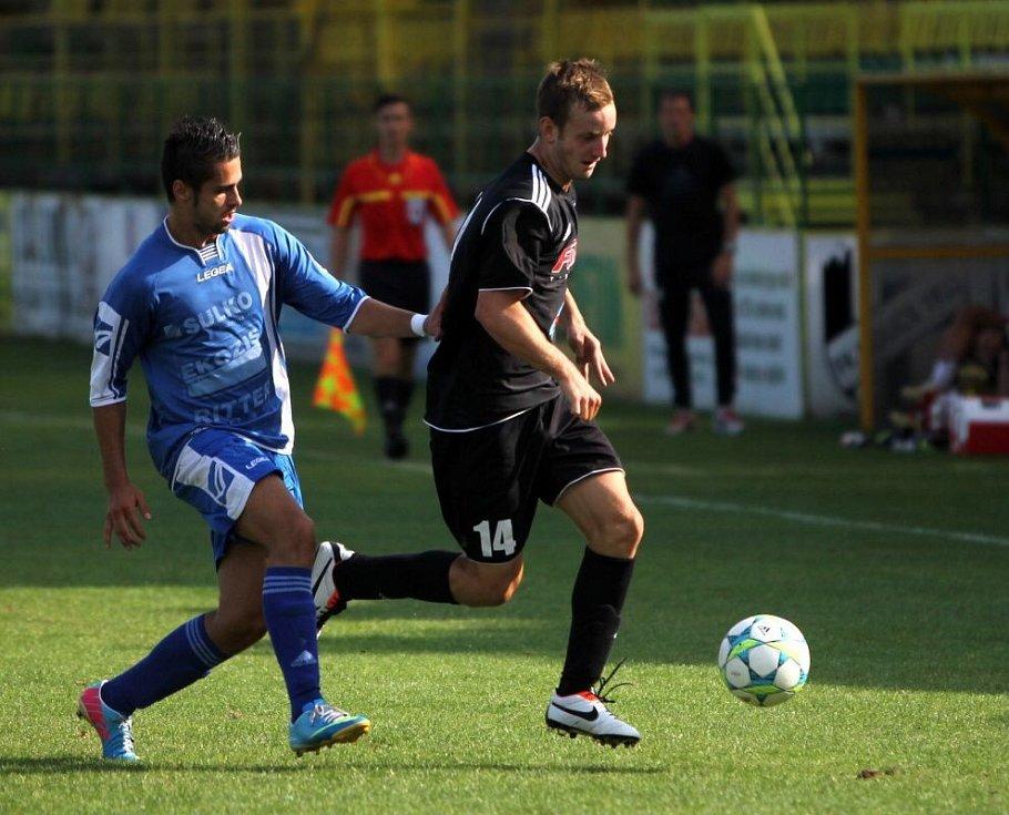 HFK Olomouc (v černých dresech) proti Zábřehu