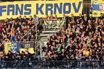 Fanoušci Opavy na Andrově stadionu v Olomouci v zápase se Sigmou (13.9.2019)