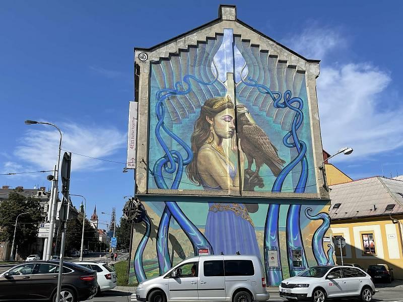 Autor Wild Drawing, Laffayetova ulice. Street Art v Olomouci