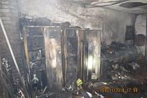 Požár garáže a rodinného domu v Klužínku