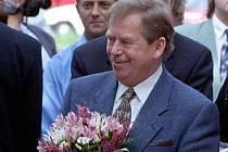 Václav Havel 29.září 1999 při návštěvě na střední Moravě
