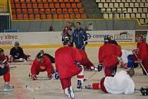 Hokejisté HC Olomouc se konečně dočkali ledu.