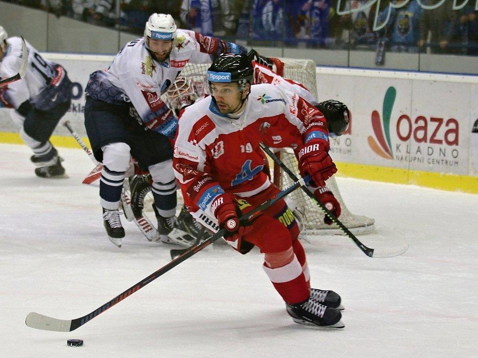 Kladno (v bílém) hostilo v hokejové extralize Olomouc
