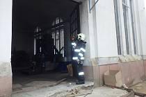 Požár transformátoru v Bílé Lhotě.