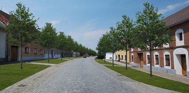 Příkazy - vizualizace po obnově zeleně na průjezdu obcí