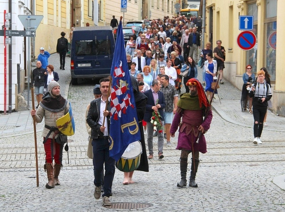 Pietní průvod k připomínce vraždy krále Václava III. v Olomouci, 4. srpna 2021