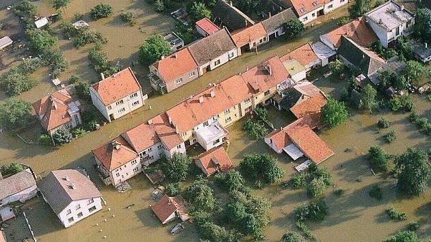 Povodně v roce 1997 na Moravě. Ilustrační foto