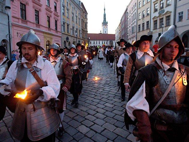 Průvod ke cti sv. Pavlíny v Olomouci
