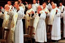 Pouť kněží v bazilice na Velehradě. Ilustrační foto