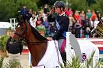 Vítěz Federico Ciriesi (It.) a Calida 46. Světový pohár v parkuru v jezdeckém areálu Equine Sport Centre v Olomouci