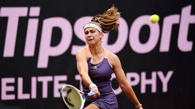 Tenistka Karolína Muchová během úvodního klání Tipsport Elite Trophy v Prostějově.