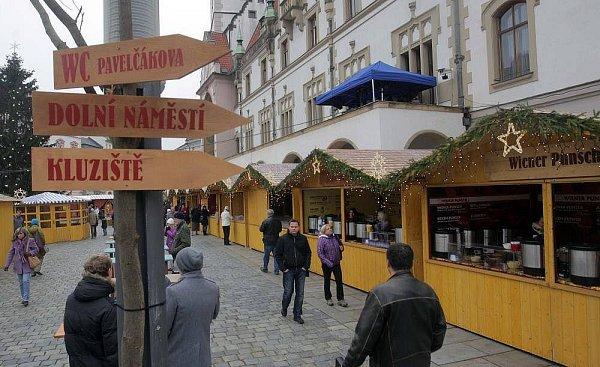 Vánoční trhy na Horním náměstí vOlomouci