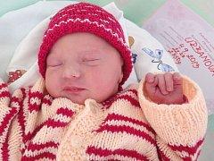 Ema Urbanová, Štěpánov, narozena 4. září v Olomouci, míra 48 cm, váha 2750 g.