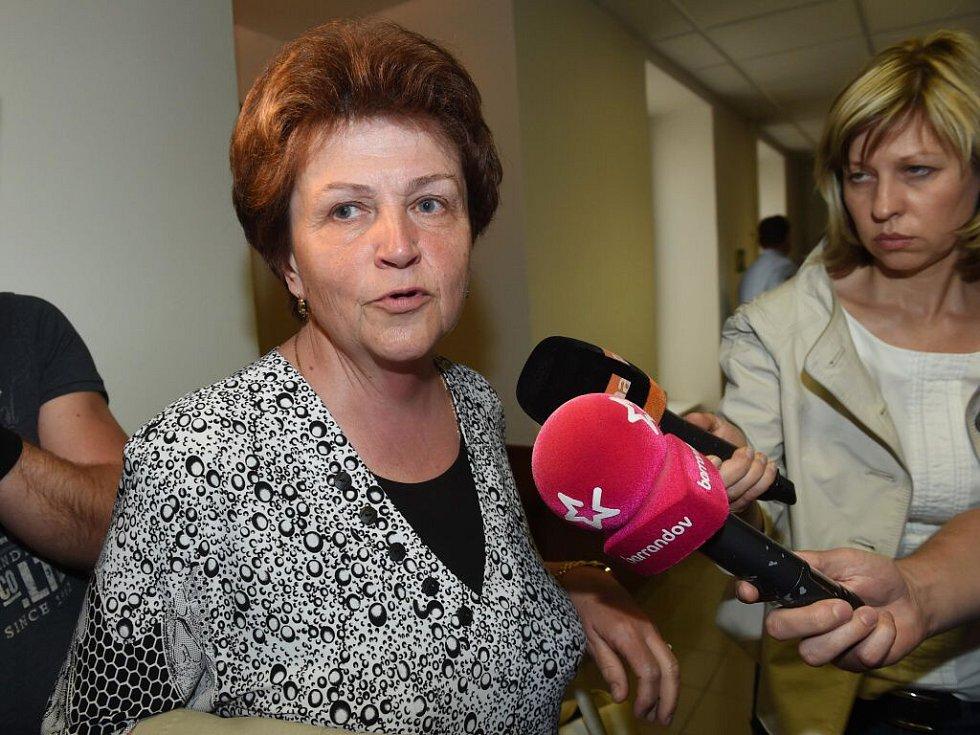 Irena Rychlá, matka Petra Kramného u Vrchního soudu v Olomouci