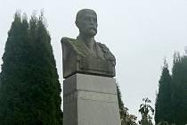 Busta T.G. Masaryka v Loučce na Olomoucku z roku 1919
