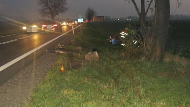 Nehoda Škody Roomster na I/46 u Bělkovic