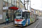Tramvaj v ulici 8. května v Olomouci