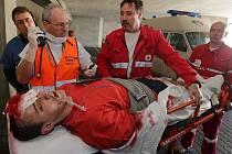 Taktické zdravotnické cvičení v olomoucké fakultní nemocnici