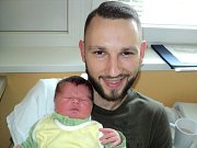 Tom Richter, Olomouc, narozen 31. října ve Šternberku, míra 54 cm, váha 4150 g