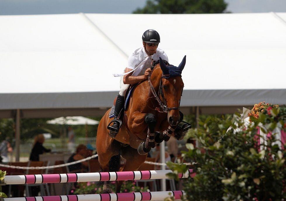 Vítěz závodu Kevin Gielen, Belgie. Světový pohár CSI*** Olomouc. Závody pro šestileté a sedmileté koně.