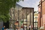 Vizualizace přístavby k Červenému kostelu v Olomouci