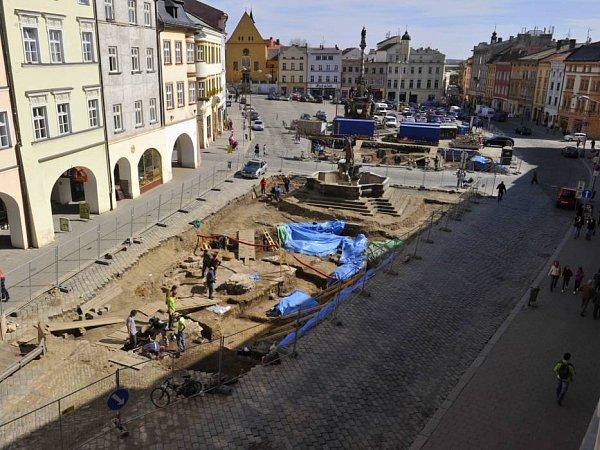 Dolní náměstí sarcheology. Ilustrační foto
