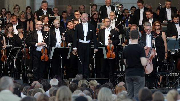 Moravská filharmonie Olomouc na olomouckém Horním náměstí