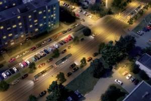 Vizualizace tramvajové trati na Nové Sady a do Slavonína. Zikova ulice