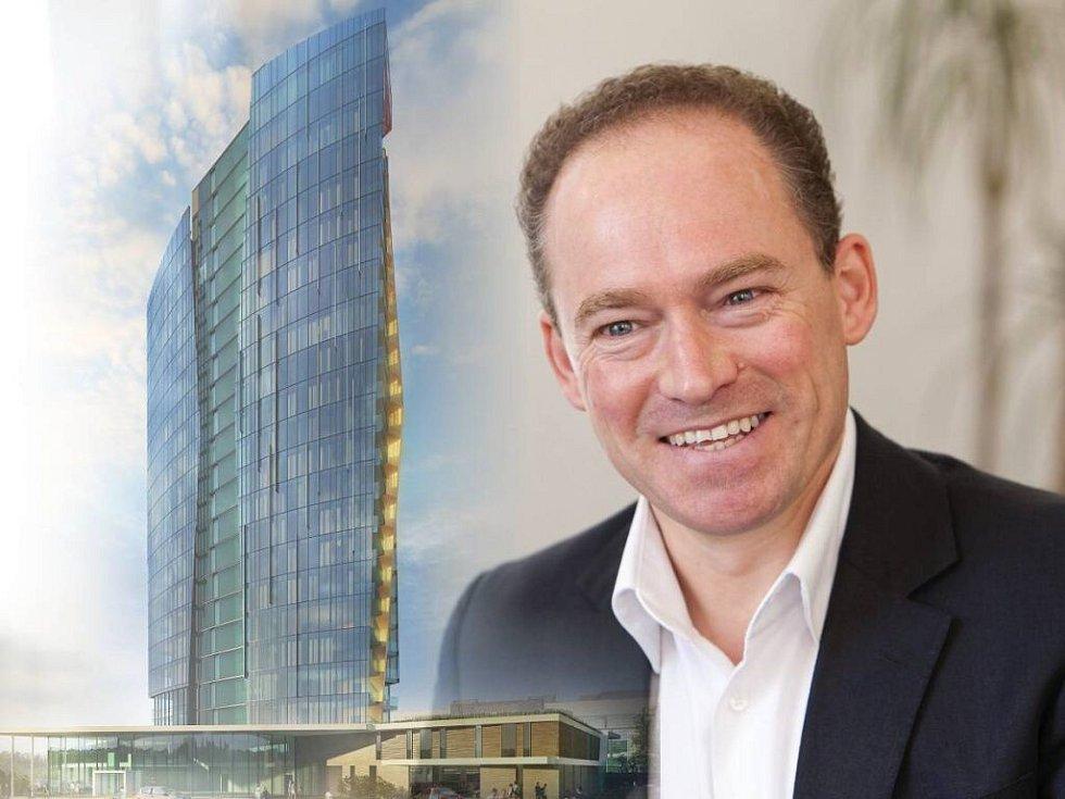 Britský architekt Robert Bishop je autorem centra Šantovka i návrhu výškové stavby Šantovka Tower