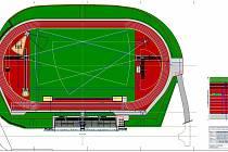 Atletický stadion ve Šternberku - vizualizace 2020