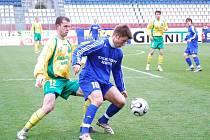 Útočník Pavel Šultés (č. 10) v sestavě SK Sigma Olomouc B v Blšanech chyběl. Byl v jednozápasovém trestu za čtyři žluté karty.
