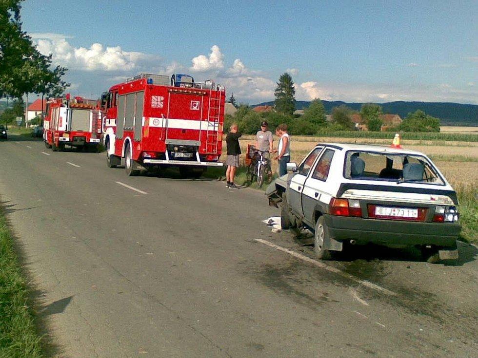 Uničovští dobrovolní hasiči v akci