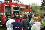 Ukázka techniky uničovských hasičů