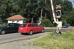 Přejezd přes rychlíkovou trať v Holické ulici v Olomouci