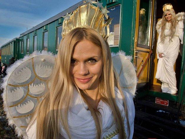Mikulášský parní vlak v Olomouci