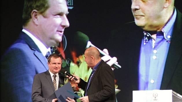 Pavel Vrba (vlevo). Vyhlášení nejlepšího sportovce Olomouckého kraje za rok 2013