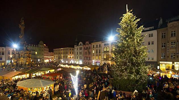 Rozsvěcení vánočního stromu v Olomouci v roce 2016