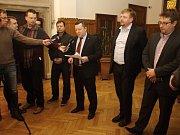Brífink primátora a zástupců fotbalového klubu SK Sigma Olomouc po jednání dozorčí rady
