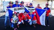 Hokejoví fanoušci z Olomouce na MS 2018 v Dánsku - složení David Foretník, Luděk Tichý, Pavel Lorenc, Roman Perůžek, Radek Pajunčík a Robert Stejskal