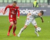 Fotbal MFK Karviná - SK Sigma Olomoucvlevo Šimon Falta, vpravo Ondřej Lingr